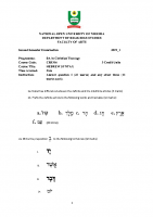 CRS316 HEBREW SYNTAX 2019_1