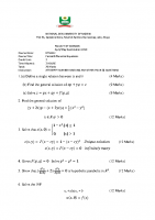 MTH422 Partial Differential Equations