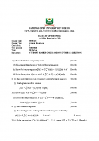 MTH423 Integral Equations